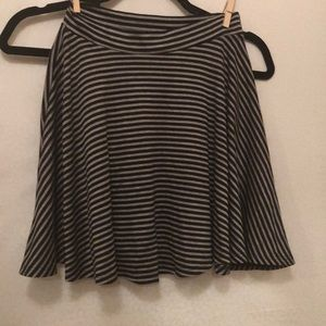 Cute black and gray striped skirt